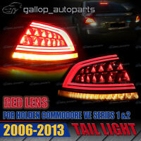 Red Upgrade Sequentia LED Tail Light fit Holden Commodore VE 1&2 Sedan 2006-2013