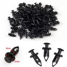 8MM 100 Pcs ATV Panel Body Push Type Pin Retainer Clips Rivet Hi-Density Nylon