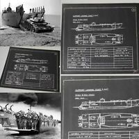 Rare WWII 1942 Classified British D-Day Landing Craft SLC Blueprint Lot Relic