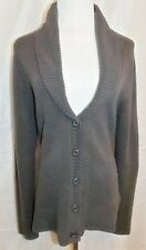 H & M Shawl Collar Cardigan Long Sleeve Button Front Gray Sweater size Large