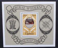 UGANDA 1981 Royal Wedding. SOUVENIR SHEET. Mint Never Hinged. SG-