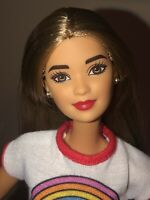 New Hybrid Made To Move Barbie with Earrings & Red Lips Fashionistas Hello Kitty
