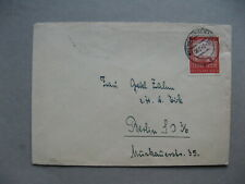 GERMANY REICH, cover 1942 single franking Belvedere Vienna