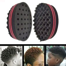Black Double Sided Barber Hair Sponge Brush Dreads Coil Afro Curl Wave Tool