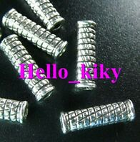 120 Pcs Tibetan silver crafted tube spacer beads A316