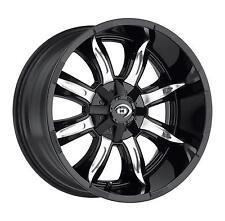 """20"""" Vision 423 Manic Black Machined Wheel 20x10 6x135mm -25mm Ford F150 6 Lug"""