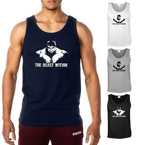 The Beast Within HULK Men's Gym Vest | Bodybuilding Tank Top T-Shirt Stringer