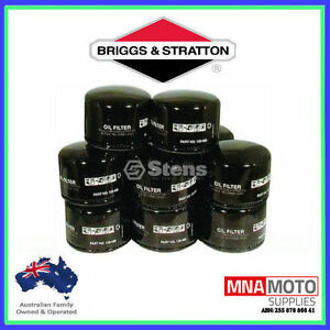 6 X Stens OIL FILTERS FOR BRIGGS AND STRATTON MOTORS   492932 / 492058