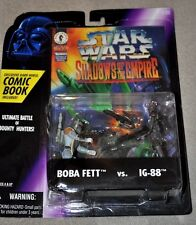 STAR WARS DISNEY SHADOWS OF THE EMPIRE BOBA FETT & IG-88 w/ COMIC BOOK MOSC