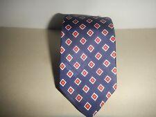 Polo Ralph Lauren Skinny Checkered Geometric Neck Tie Blue Red 24x2 T02