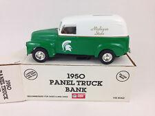 1950 Chevy Panel Truck MICHIGAN STATE SPARTANS Die-cast Bank ERTL 1/25 vintage