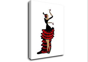 Flamenco 6 Dance 15813 Canvas Print Wall Art
