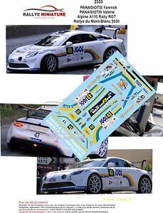 DECALS 1/43 REF 2333 Alpine A110 Rally RGT PANAGIOTIS Rallye du Mont-Blanc 2020