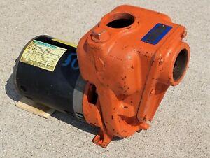Berkeley B2XPKS Self-Priming Centrifugal Pump, 2x2x5 in Cast Iron, 1-1/2 HP