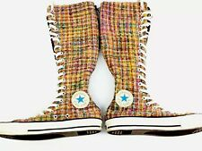 Converse Chuck Taylor Womens Colorful Tweed Knee High Sneakers 7 EDM Rave Punk
