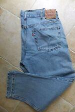 Levi's 505 Red Tab Men's 38x30 Medium Wash Blue Denim Jeans Regular Straight Leg