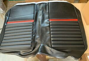 1969 Ford Mustang Mach I Upholstery Set for Coupe Black with Red Stripe TMI