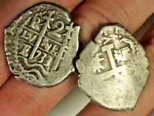 16th Century Potosi Mint Colonial Bolivia Silver 2 Coin Cufflink Set