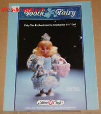 """Tooth Fairy Doll Dress Crochet Pattern Booklet - for 9 1/2"""" Doll"""