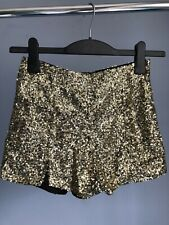 Missguided Sequin Glitter zip shorts UK 6