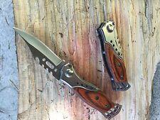 Couteau Pliant de Poche Lame Acier 6,5 cm Manche 8 cm  Outdoor Taschenmesser