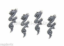 ENGU18 ICONE SERPENT x4 GUERRIER ELFE NOIR WARHAMMER BITZ DARK ELF WARRIOR