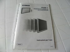 Yamaha PDM-1 Owner's Manual  Operating Instructions Istruzioni in Italiano