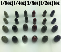 Tungsten Bullet/Worm/Weights 1/8 oz  - 1 oz color options and multiple sizes