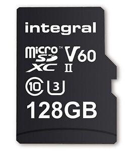 Integral 128GB Premium High Speed Micro SD MicroSDXC Up to 100MB/s V30 UHS-I U