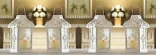 "White Gazebo Wedding Candle Lantern 9 1/2"" Tall (Set of 4) Event Supplies 14617"