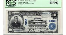 $10 1902 The First National Bank of Port Jefferson, NY CH# 5068 PCGS EF 40 PPQ