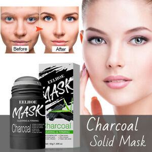 Charcoal Vitamin C Mask Purifying Clay Stick Solid Mask Anti-Acne Oil Control UK