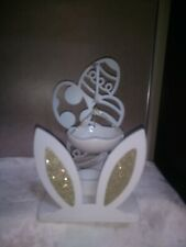 Yankee Candle Easter Egg with Gold Bunny Ears Hanging Tart Burner - Nwt