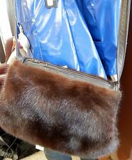 Mahogany Mink Fur Purse - converts to muff