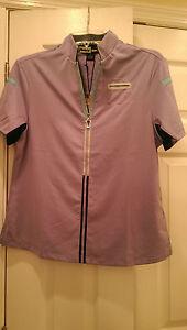 NWT Jamie Sadock Lavender Short Sleeve Golf Shirt sizes M, L & XL VIOLETTA