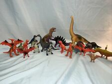 Plastic Toy Dinosaurs Lot Of 19 (2)