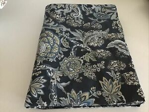 Pottery Barn Printed Tablecloth Blue Paisley NEW WITHOUT TAG 70x108