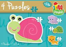 Playlab 4 Puzzles in a Box Shaped Jigsaws - Animals - 17494 - New