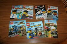 7 DK Lego City Picture Books Reader Lot Truck Mystery Express Liftoff Aboard