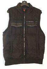 NWT $145 Saks Fifth Avenue Men's Polyester Spinni Vest, Black, XL