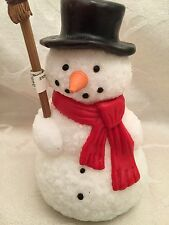 """Dept 56 Snowman Candle Wax 5 3/4"""" Christmas Holiday Figurine Decorations Decor"""