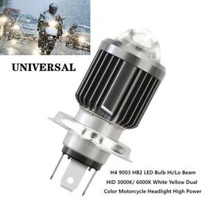 1X H4 9003 HB2 LED Bulb Dual Color Motorcycle Car Hi/Lo Beam HID Headlight Part