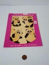Vintage Meyercord Waterslide Decals Pandas 1533-G