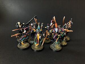 Warhammer 40k harlequins Troups + Shadowseer + Death Jester - PRO PAINTED