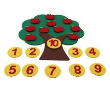 Apple Tree Match Digital Teaching Math Toy Count Montessori Kindergarten Kids 8c