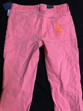 NEW Polo Ralph Lauren Girls 14 Pink Bowery Skinny Jeans Cotton Stretch Big Pony