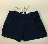 NWT MAYORAL Girls Sizes 10-12-14  Navy Blue Chiffon Pleated Shorts