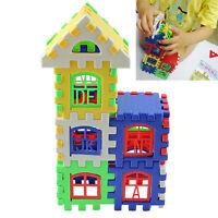 Blöcke Bunte Plastik Haus Bausteine Kinder Entwicklungsspielzeug WH