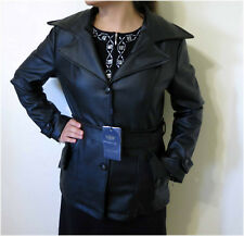 NWT, Emporio & Co., Black Stylish Leather Jacket, Size M