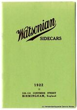 Watsonian Sidecars : for Pleasure, Speed and Commerce. List No. 12